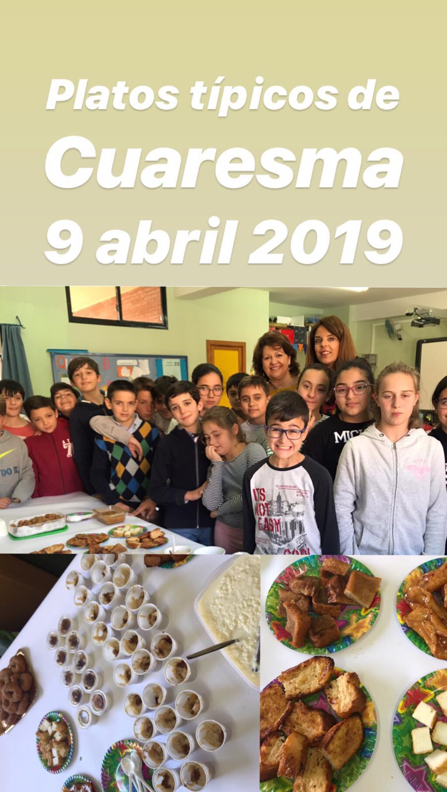 Platos tipicos Cuaresma 2019 2